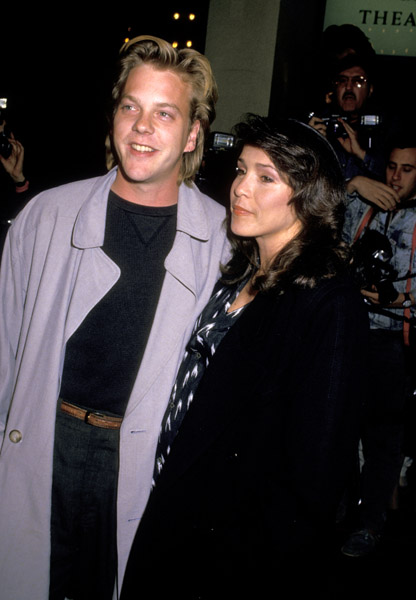 Actor Keifer Sutherland with his first wife Camelia Kath