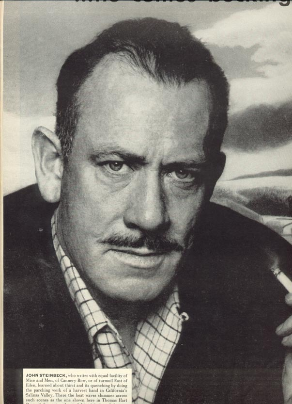 a short paragraph on the life of the author john steinbeck