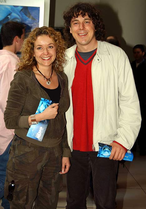 Alan Davies and Julia Sawalha