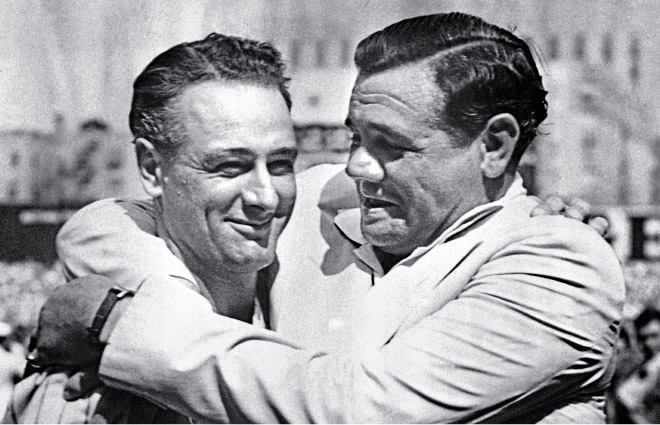 a biography of henry louis gehrig a baseball player